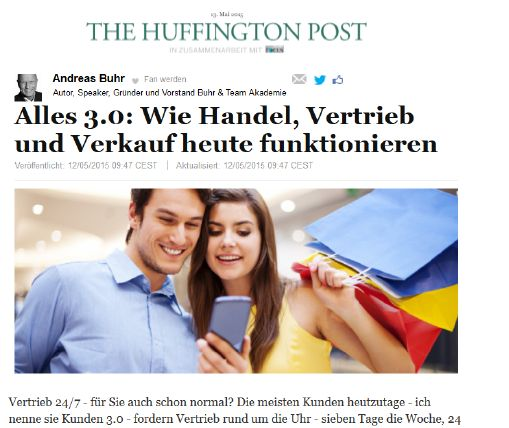 Andreas Buhr: Gastartikel bei THE HUFFINGTON POST