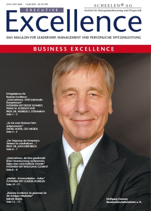 d Kundenzeitschrift text-ur Executive Excellence Scheelen Business Excellence
