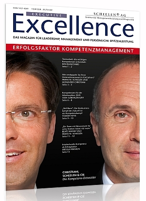 Bild Kundenzeitschrift text-ur Executive Excellence Scheelen Kompetenzmanagement